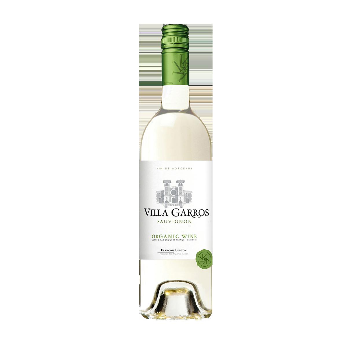 FRL2201-15 法國波爾多路得嘉禾莊園白蘇維濃白葡萄酒 (有機葡萄酒) Villa Garros Sauvignon Bordeaux A.O.P. (Organic Wine)
