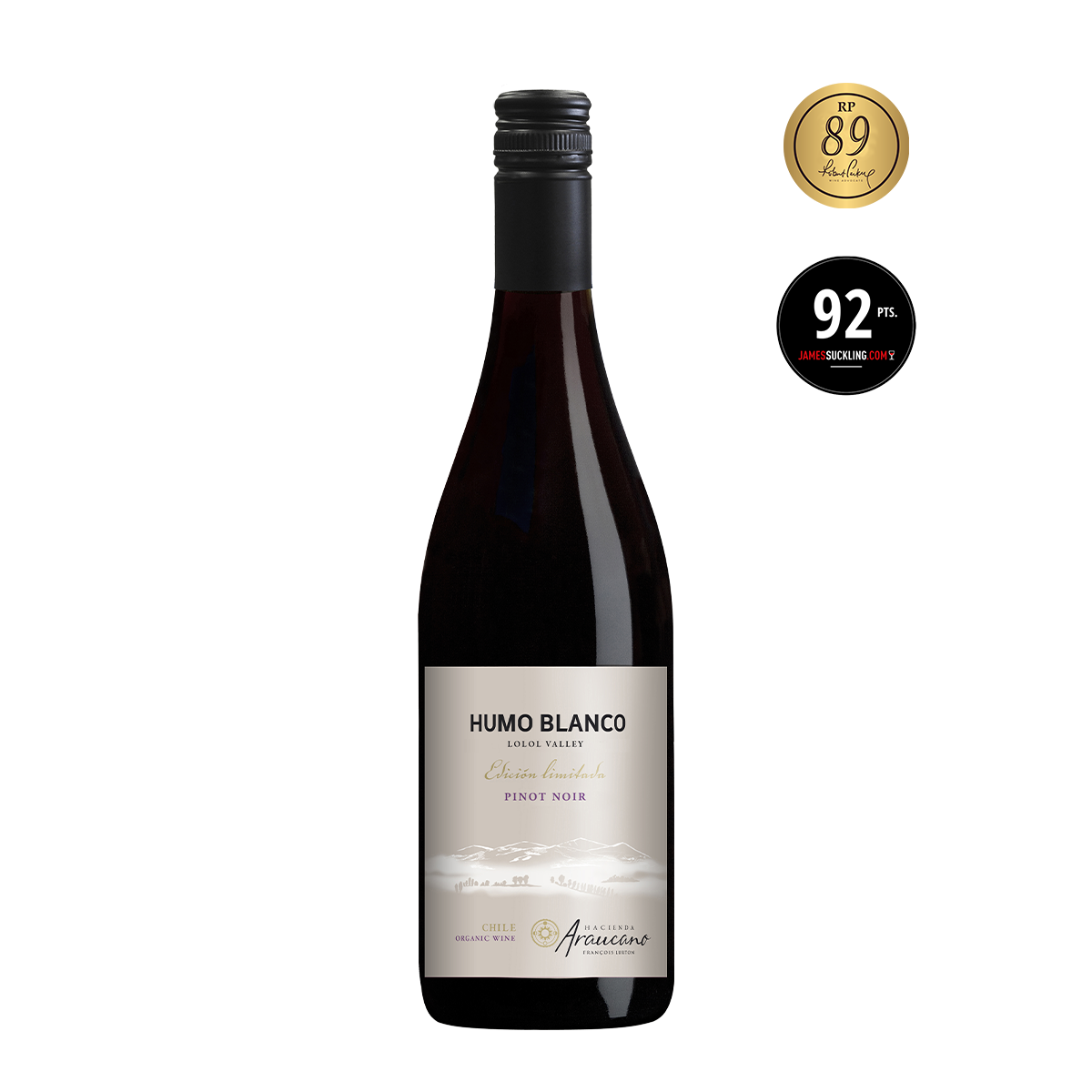 CHL1107 智利魯頓谷人莊園白雲黑皮諾限量紅酒(有機葡萄酒)Hacienda Araucano Humo Blanco Edición Limitada Pinot Noir, Lolol Valley(Organic Wine) (750ML)