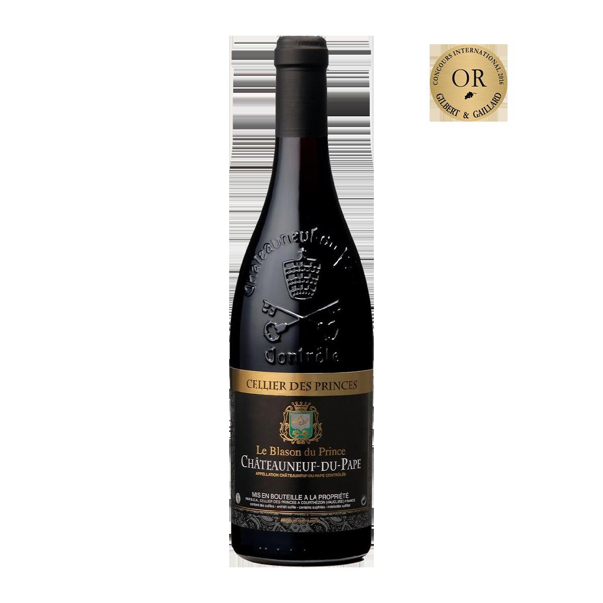 FRP1205 法國王子徽章教皇新堡紅酒 Cellier des Princes Le Blason du Prince Châteauneuf-du-Pape A.O.C.