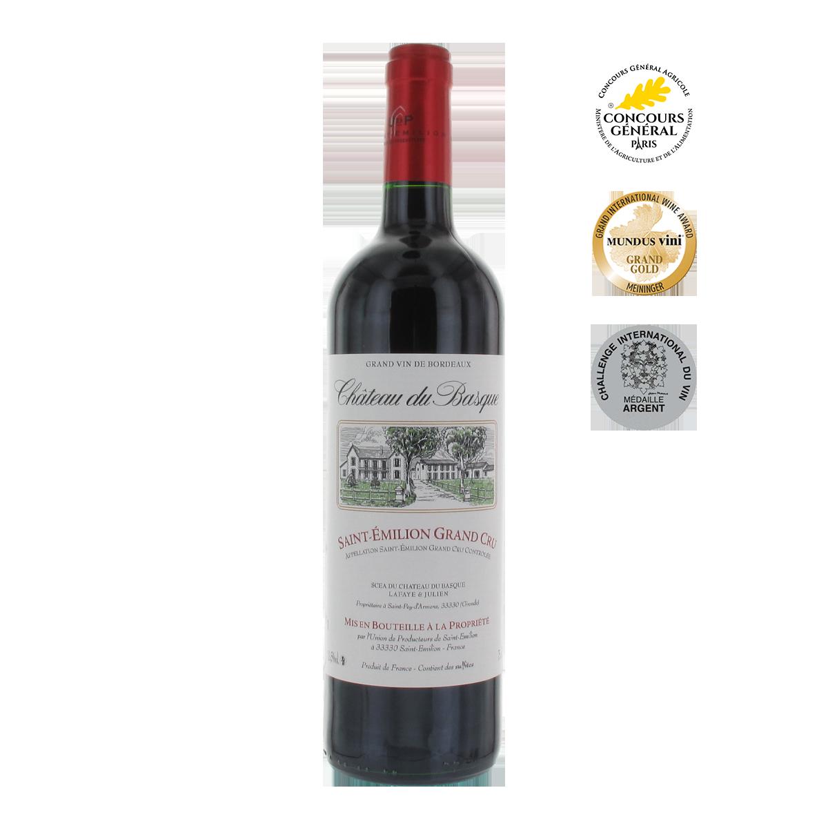 FRU1004-14 巴斯克莊園特級聖愛美濃紅酒 Château du Basque Saint-Émilion Grand Cru A.O.C.